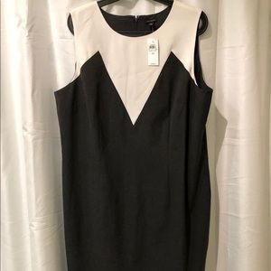 BNWT Ann Taylor lined sleeveless shift dress Sz 18